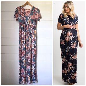PINK BLUSH Floral Maxi Dress